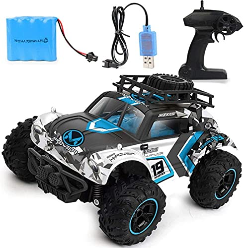 4WD RC Cars 2.4G Radio Control Juguetes Buggy Camiones de Alta Velocidad Off-Road para niños Coche RC Rock Crawlers Conducción 4x4 Motores Dobles Conducir Bigfoot Vehículo Remoto de Juguete