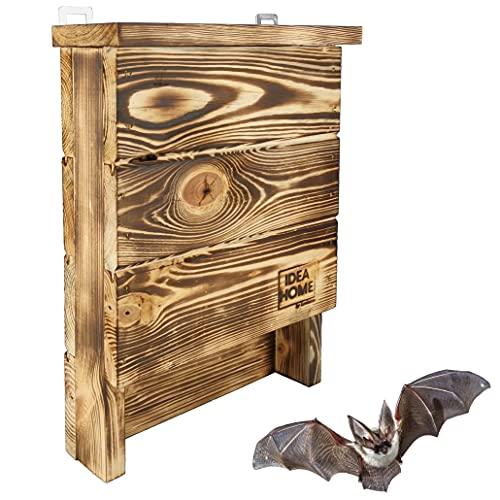LEVIATAN CHIROPTERA Fledermauskasten aus Massiv-Holz - fertig montiert, Nistkästen, wetterfest, unbehandelt, Fledermaus-Haus & Nistkasten für Fledermäuse sowohl Sommer- & Winterquartier