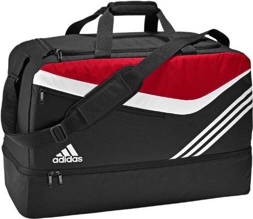 Adidas Teambag - Borsa da calcio, misura L, colore: Nero