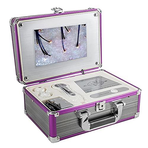 Skin Diagnosis Hair Analyzer,10.1inch Digital Charging Type Microscope Scalp Hair Follicle Skin Hair Detector Analyser Machine 100-240V(US)
