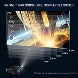 IMG-2 videoproiettore wimius 6800 lumen nativa