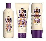 Aussie, Routine Capillaire, Repair Miracle et Reconstructor, à l'Huile de Graines de Jojoba,...