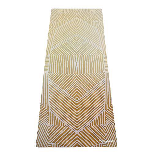 Yoga Design Lab Pendler Yogamatte 1,5mm | rutschfest, Faltbar, Leicht, Matte/Handtuch, Waschmaschinenfest | mit Tragegurt (Optical Gold)