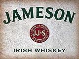 PaBoe Jameson Whiskey Irish Retro Tin Sign 12x16 Wall Decor