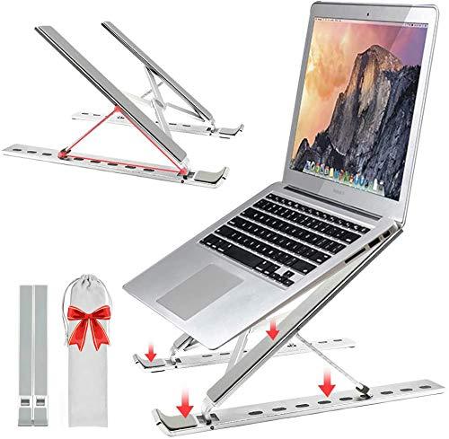 NeotrixQI Laptop Ständer, Computerhalterung, tragbarer Faltbarer Laptophalter, Ergonomisch Notebook Ständer, Verstellbarer Leichter Notebook Halter Riser für 10-15,6-Zoll-iPad-Laptops Tablet