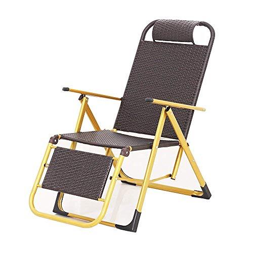 YLCJ Wicker bureaufauteuil | Opvouwbare rotan stoel voor lunchpauze | Home Balcony Lazy Rocking Chair | Outdoor draagbare stoel voor thuis | Eenvoudige A ++ liggende fauteuil