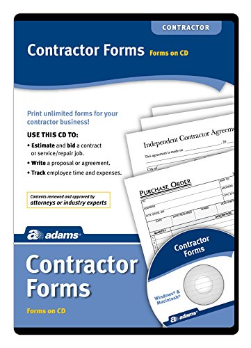 Adams Contractor's Forms on CD (SS4301)