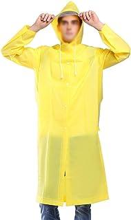 レインコート シングルEVA透明ビッグハットレインコート大人のハイキング防水ユニセックス屋外の長い厚いポンチョレインコート環境に優しい非毒性5色利用可能 成人用レインコート (色 : 黄, サイズ さいず : XL)