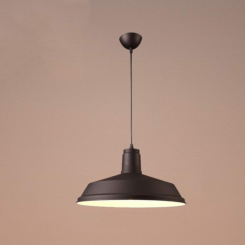 Lustres en aluminium rétro, Nordic LED éclairage noir blanc éclairage décoratif allée lustre plafonniers lampes moderne minimaliste café Bar table à hommeger pendentif lumière (Couleur   noir-G)