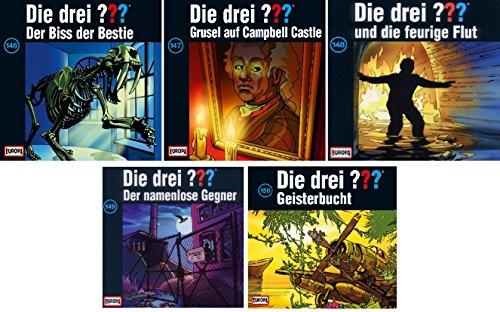 Die Drei ??? (Fragezeichen) - Folge/CD 146-150 im Set - Deutsche Originalware [7 CDs]