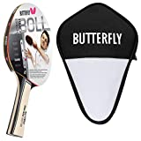 Butterfly Timo Boll Silver - Juego de raquetas de ping pong y funda para celdas