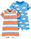 Carter's Baby Boy's 2 Pack Cotton Romper Creeper Set