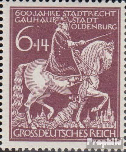 Prophila Collection Deutsches Reich 907VI (kompl.Ausg.), Punkt unter HA (Feld 40) 1944 601 Jahre Oldenburg (Briefmarken für Sammler) Pferde