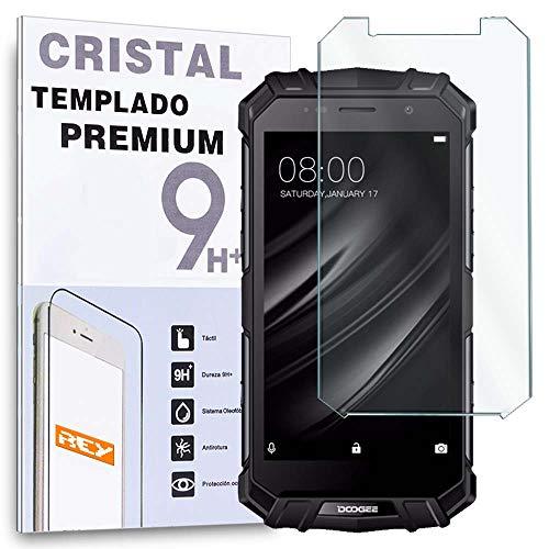 REY Protector de Pantalla para DOOGEE S60 Lite, Cristal Vidrio Templado Premium