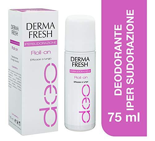 Dermafresh Ipersudorazione Roll-On Deodorante Fresco No Alcol e Conservanti per Regolare...