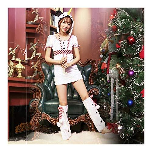 LNLW Adultos de Vacaciones Elf Navidad del Traje de Las Mujeres de señora Papá Noel Capa de Navidad Vestido del Cabo - Polo Norte Cosplay (Size : M)