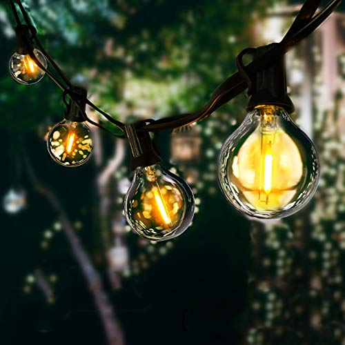 LED Outdoor String Lights with Plastic Bulbs, AVANLO Upgrade 31.2FT Garden Patio String Lights Outdoor Festoon Lights with 27+3 E12 Bulbs for Indoor & Outdoor Décor Wedding Patio Cafe Party