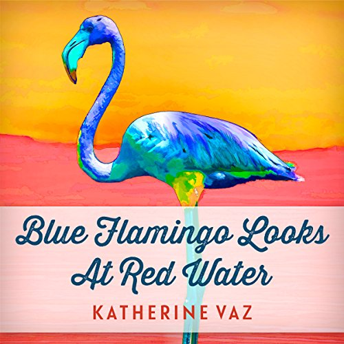 Blue Flamingo Looks at Red Water Titelbild