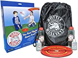Bottle-Bullseye Official Travel Kit - Fun Indoor & Outdoor Game Like Darts. Play Almost Anywhere: Parties, picnics, Camping, Tailgating. Durable Weatherproof Target & Bottles are Made in The USA!!