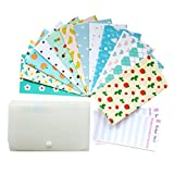 Budget Envelopes with Accordian File Organizer, Cash Envelope System, 12 Budgeting Envelopes with Budget Sheets