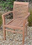 Field & Hawken - Chester Armchair - Teak Garden Chair - Stacking Garden Chair