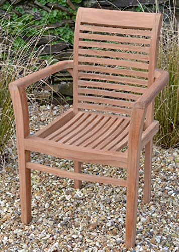 Field & Hawken - Chester Armchair - Teak Garden Chair - Stacking Garden Chair