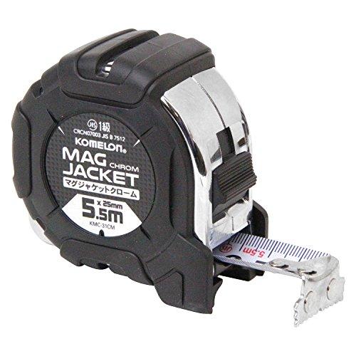 コメロン コンベックス マグジャケット クローム25 テープ幅25mm 5.5m KMC-31CM