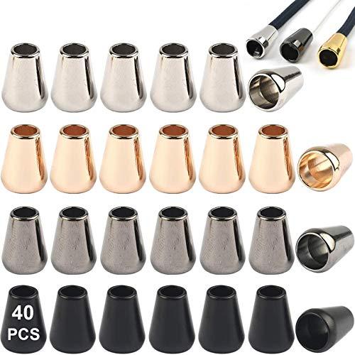 40 Stuks Koordstoppers Metalen Koorduiteinden Toggle Stoppers Koordvergrendelingen Koordklem Toggle Stopper Koord Metalen Koorduiteinden Voor Touwen Jassen Rugzak Paracord Rugzakken 13x8mm