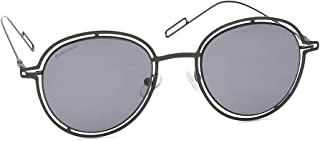 Fastrack UV Protected Round Men's Sunglasses - (M201BK1 51 Grey Color Lens)