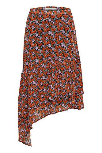 GESTUZ Damen Rosanna Skirt Kleid, Rot (Small Red Rose 90545), 36