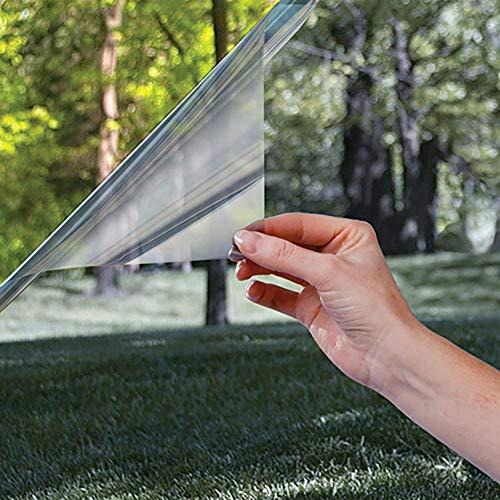 Aomerrt Isolierfolie Fenster Sonnenschutzglas nach Hause reflektierende Folie Einwegperspektive Balkon Küche Sonnenschutz Aufkleber, 1M