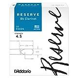 D'Addario Woodwinds DCR1045 Reserve Boîte de 10 Anches pour Clarinette SIB Force 4.5 Blanc