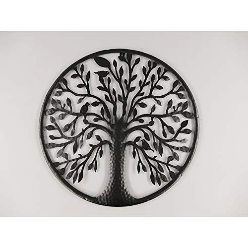 GR Wanddeko Baum Tree of Live Wandbild Hauswand Deko Wand Bild Metall Blech schwarz