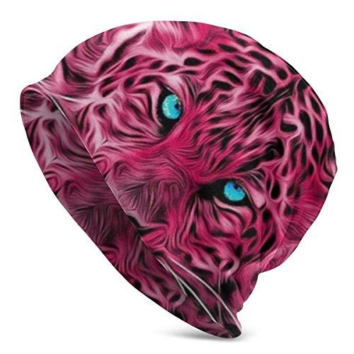 AEMAPE Tiger Beanie Knit Hats - Sombreros Ligeros multifuncionales, Gorra de Calavera para Correr con Forro de Casco, Gorras para Dormir para Hombres y Mujeres, Color Negro