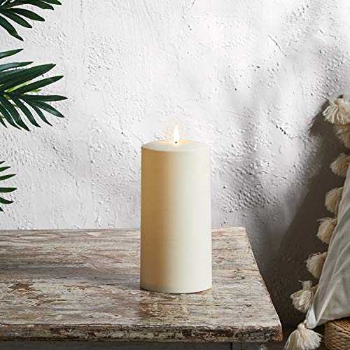 Lights4fun Candela LED Bianco Caldo TruGlow in Plastica Avorio di 20 cm a Pile per Uso in Esterni