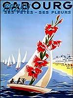 ERZAN30x40cmメタルポスター壁画ショップ看板ショップ看板カブールビーチオーシャンセイルフランスヴィンテージフランス旅行広告家の装飾ブリキ看板