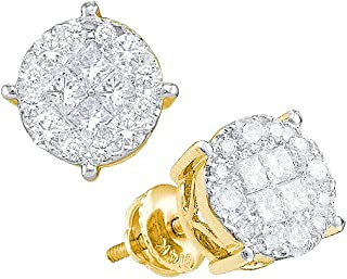 Dazzlingrock Collection 1/4 Total Carat Weight DIAMOND LADIES SOLEIL EARRINGS