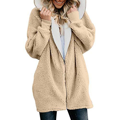 x8jdieu3 Abrigo Abrigo Color SóLido Cremallera Collage Costura Con Capucha SuéTer De Longitud Media Mujer Abrigo De OtoñO E Invierno