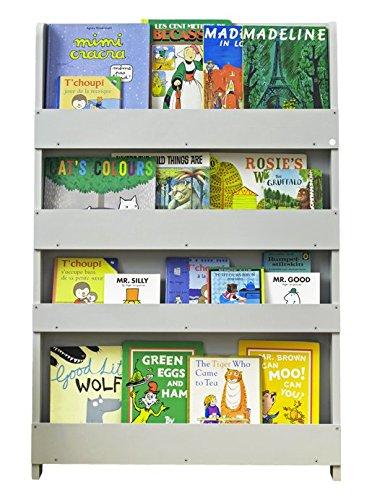 Tidy Books ® - Bibliotheque Enfant | Montessori | Etageres Murales Pour Livres | Gris Clair | Bois | 115 x 77 x 7 cm | Ecoresponsable | Fait Main | L'Originale depuis 2004