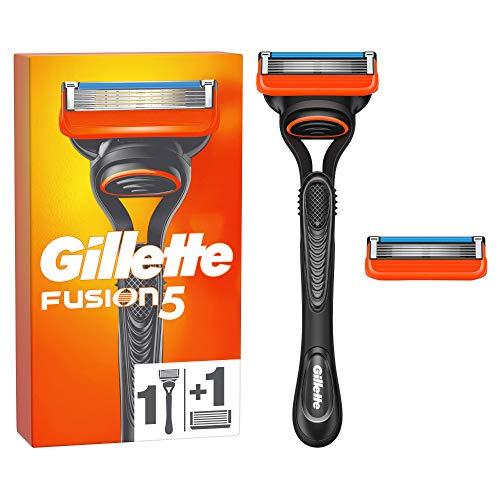 Gillette Fusion 5 Rasierer Herren mit 2 Rasierklingen mit Anti-Irritations-Klingen für bis zu 20 Rasuren pro Rasierklinge, aktuelle Version
