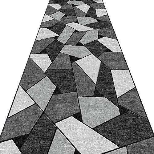 AOMRUN Alfombras De Pasillo Colección del Enrejado de celosía geométrica Alfombra Moderna Gris Oscuro Manta de área, múltiple, Serie Gris 11/7 (Color : Gray, Size : 1.1x5m)