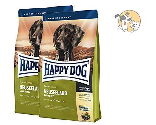 Happy Dog Supreme Sensible Neuseeland 2x12,5kg Sparangebot mit Lamm und MIOMERA gratis Snack dazu