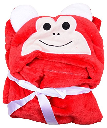 Baby Bucket AC Blanket with Hooded (Red)