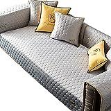 MNSSRN Cubierta de sofá con Forma de L, cojín de sofá Acolchado y cojín de protección de sofá Espesado, Adecuado para sofás de Esquina de sofás modulares,Gris,90x120cm(35x47inch)
