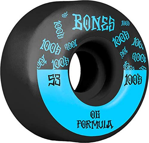 Bones Wheels Skateboard Räder 100A 53mm Black/Blue