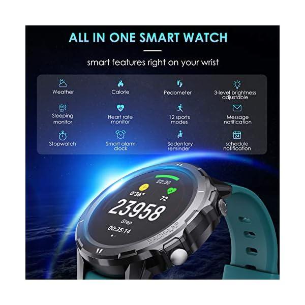 Vigorun Smartwatch Reloj Inteligente Hombre Mujer, Pantalla Táctil Completa Relojes Deportivos, Monitor Ritmo Cardíaco y… 9