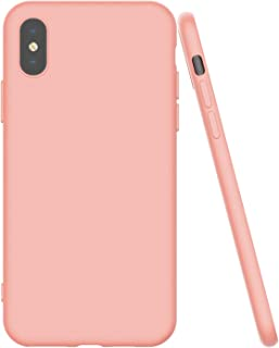 Shamo's Thin Case for iPhone XS MAX with Soft Microfiber Cloth Lining Cushion, Slim Fit Flexible Soft TPU, Matte Pastel Color (Pink)