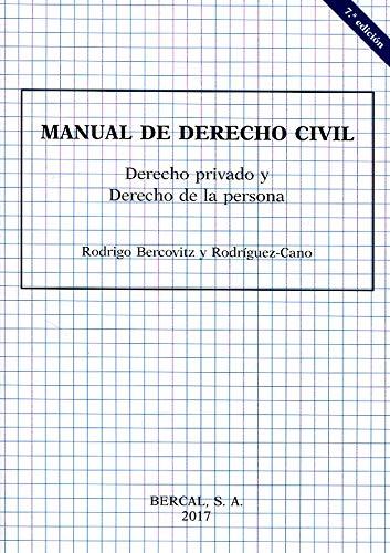 Manual de Derecho civil : Derecho privado y Derecho de la persona