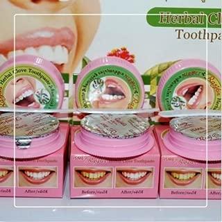 3 X 25g THAI Herbs TOOTHPASTE - Hypersensitive Teeth Stain Tobacco Anti-Bacteria