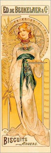 Poster 20 x 60 cm: Ed. de Beukelaer & Co. Biscuits Anvers von F. Champenois/Bridgeman Images - hochwertiger Kunstdruck, neues Kunstposter